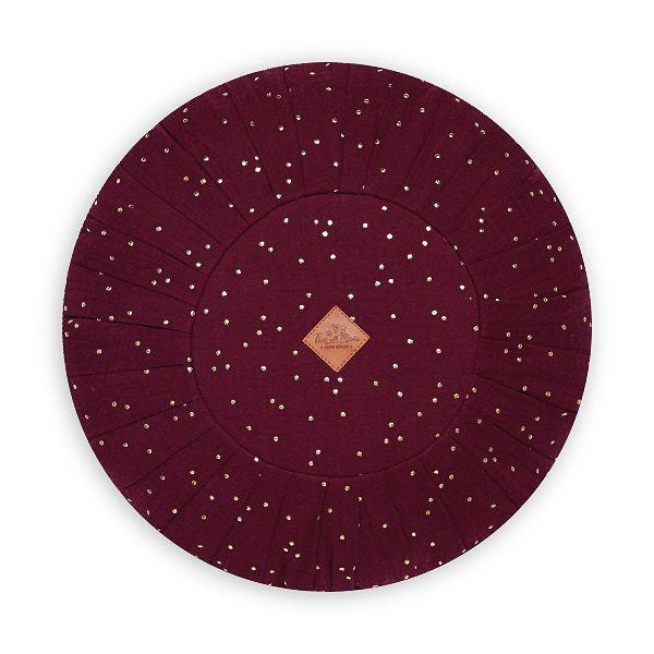 Round Pillow - Burgundy