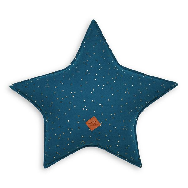 Star Pillow - Teal Blue
