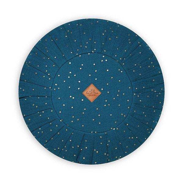 Rundes Kissen - Teal Blue