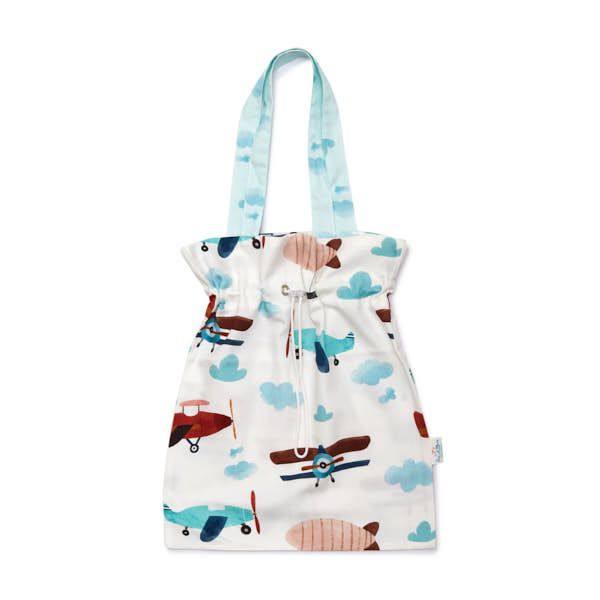 Drawstring Bag - Airplane