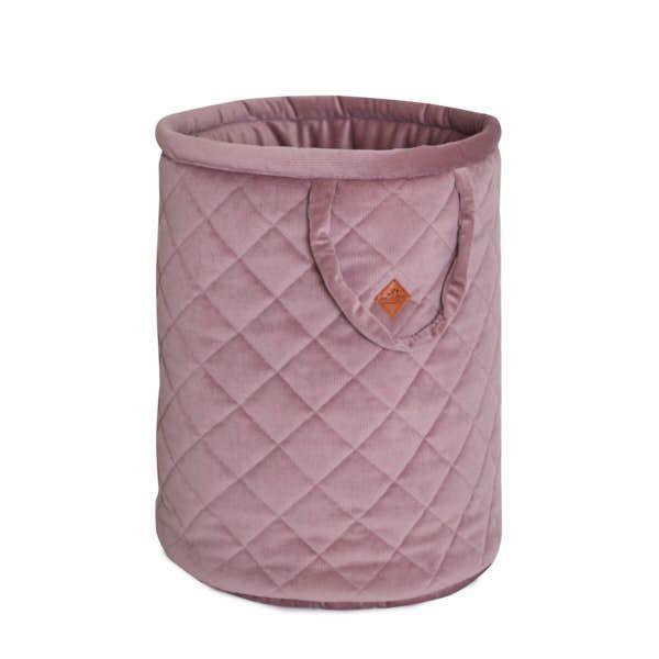Basket for Toys - Velvet - Powder PInk
