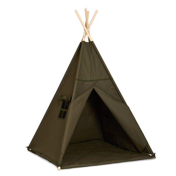 Teepee Tent + Floor Mat - Khaki