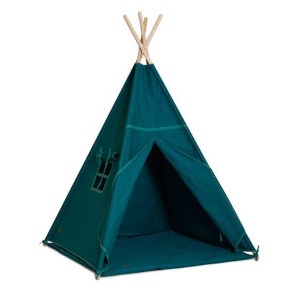 Teepee Tent + Floor Mat - Emerald