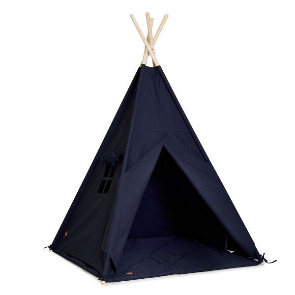 Tipi-Zelt + Bodenmatte - Navy Blue