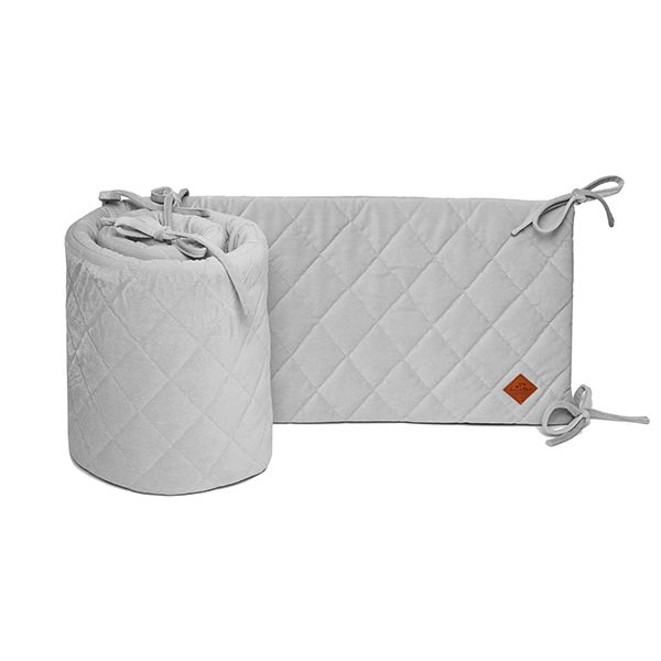 Baby Bed Bumper 70x140 - Velvet - Grey