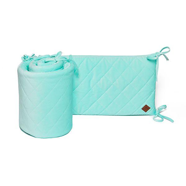 Baby Bed Bumper 70x140 - Velvet - Mint