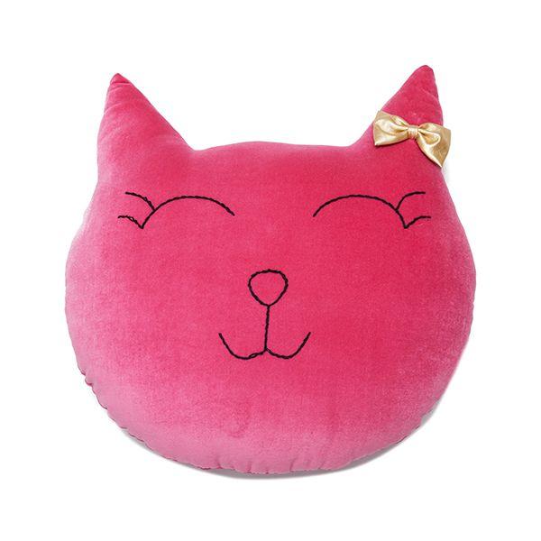 Poduszka Kot - Fuchsia