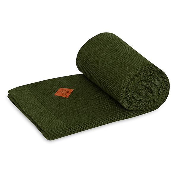 Knitted blanket - Khaki