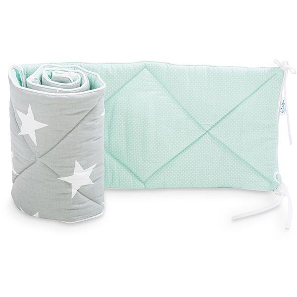 Baby Bed Bumper 70x140 - Mint Heaven