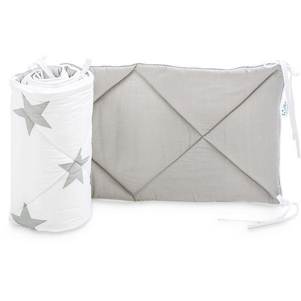 Baby Bed Bumper 70x140 - Bright Grey