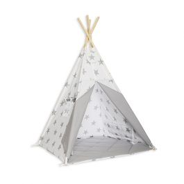 Teepee Tent Floor Mat Bright Grey Fun With Mum