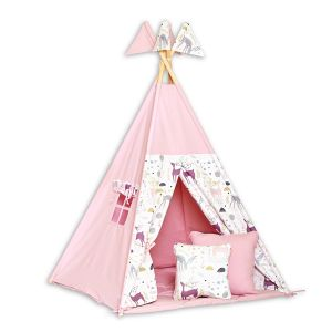 Teepee Tent + Floor Mat + Pillows - Deer