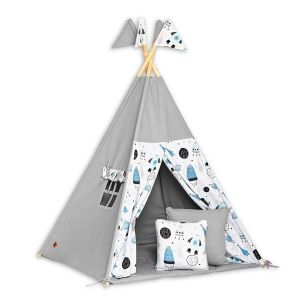 Teepee Tent + Floor Mat + Pillows - Space