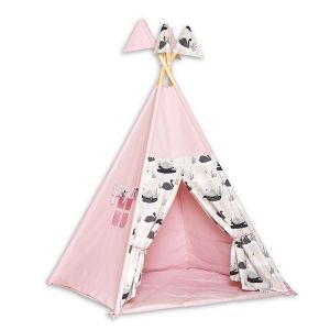Teepee Tent + Floor Mat - Swan Princess