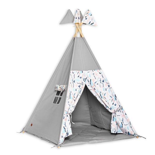 Teepee Tent + Floor Mat - Colibri Flower