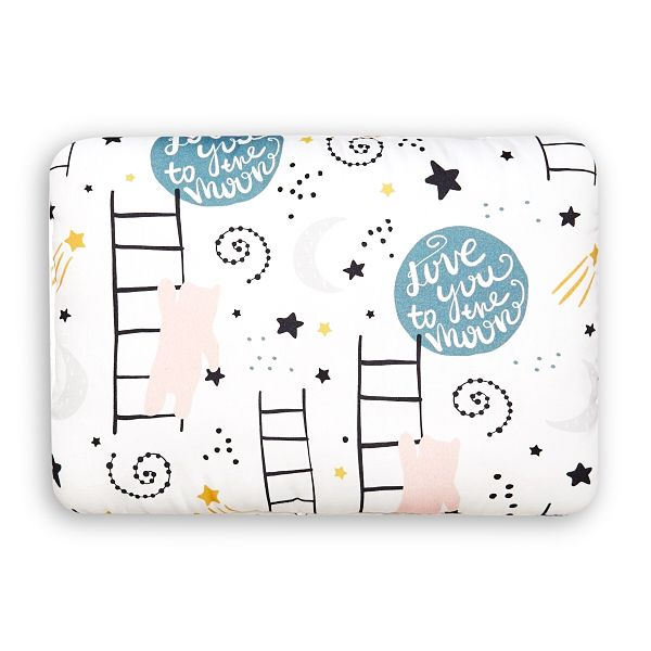 Toddler Bed Pillow M - Love to the Moon