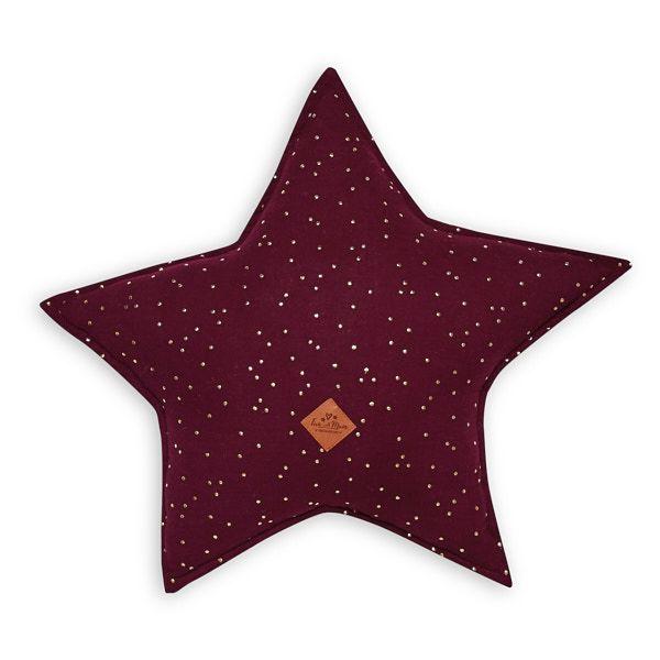Oreiller étoile - Burgundy