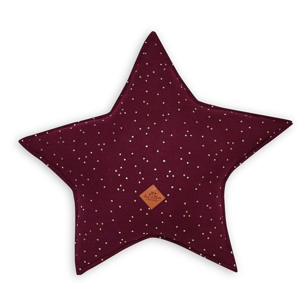 Almohada estrella - Burgundy