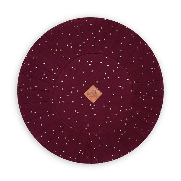 Round Pillow - Burgundy