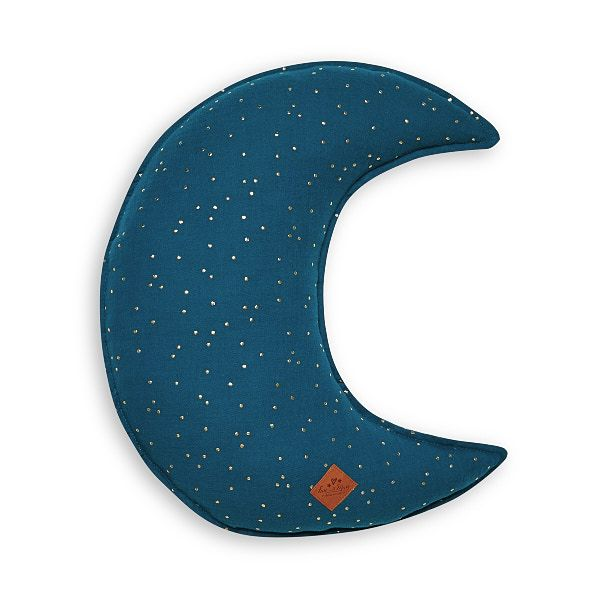 Moon Pillow - Teal Blue