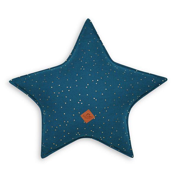 Almohada estrella - Teal Blue