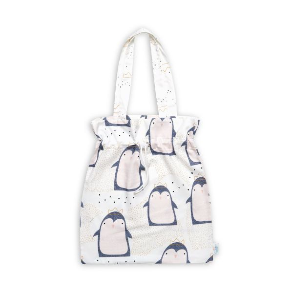 Drawstring Bag - Lovely Penguin