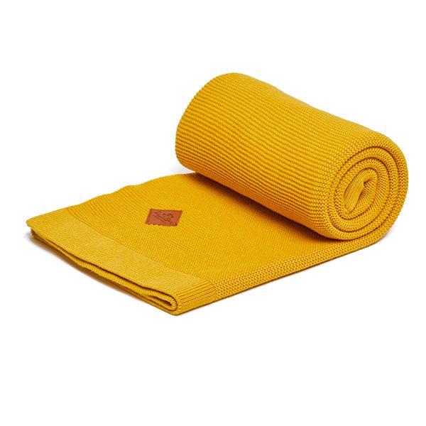 Kocyk Bambus-Bawełna - Yellow Mustard