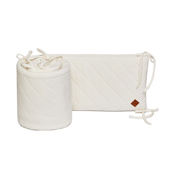 Baby Bed Bumper 70x140 - Velvet - Ecru