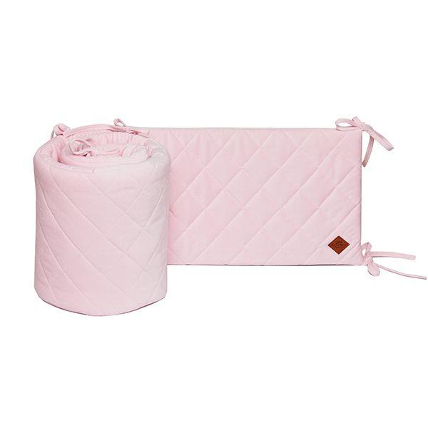 Baby Bed Bumper 70x140 - Velvet - Pink