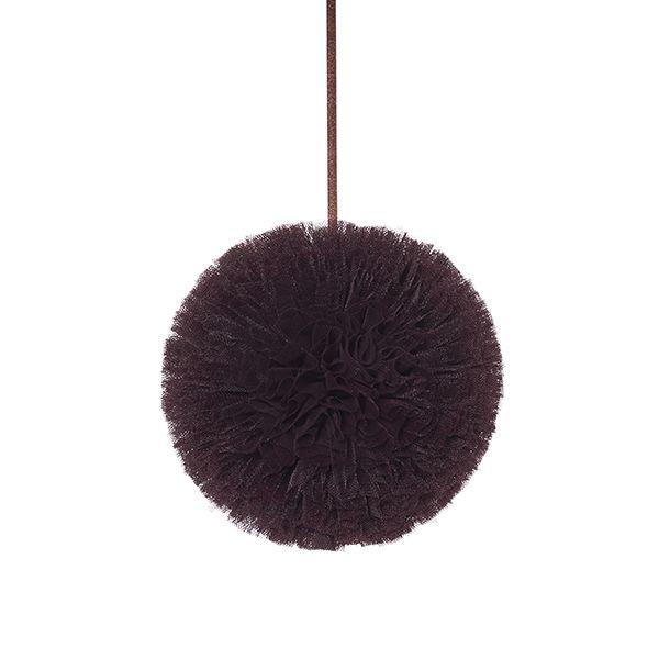 Pompon 20 cm - Brown