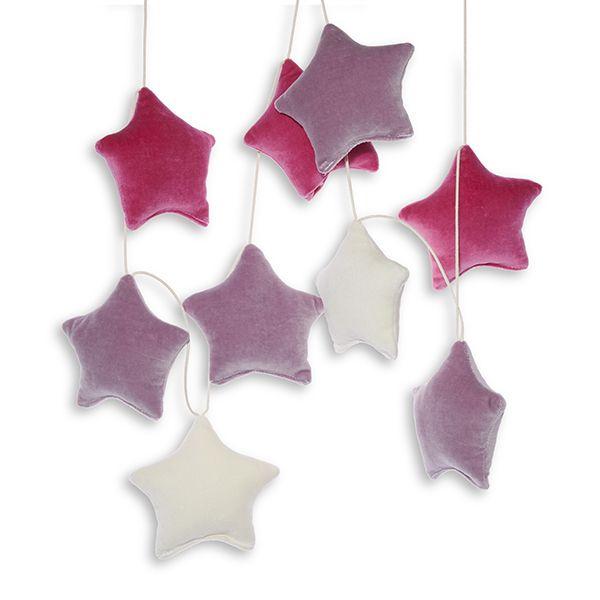 Girlanda - Velvet Berry Stars