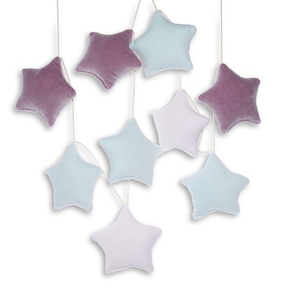 Girlanda - Velvet Lilac Stars