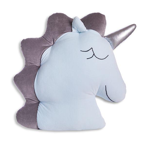 Poduszka Jednorożec - Mint Grey