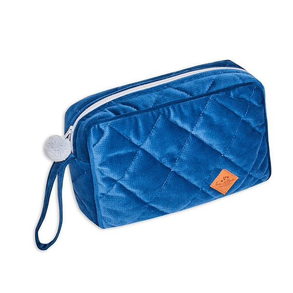 Toiletry Bag - Velvet - Navy Blue