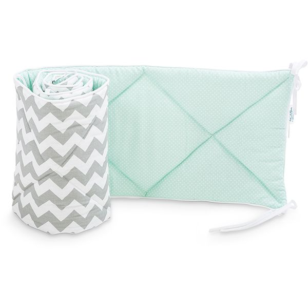 Baby Bed Bumper 70x140 - Fresh Mint