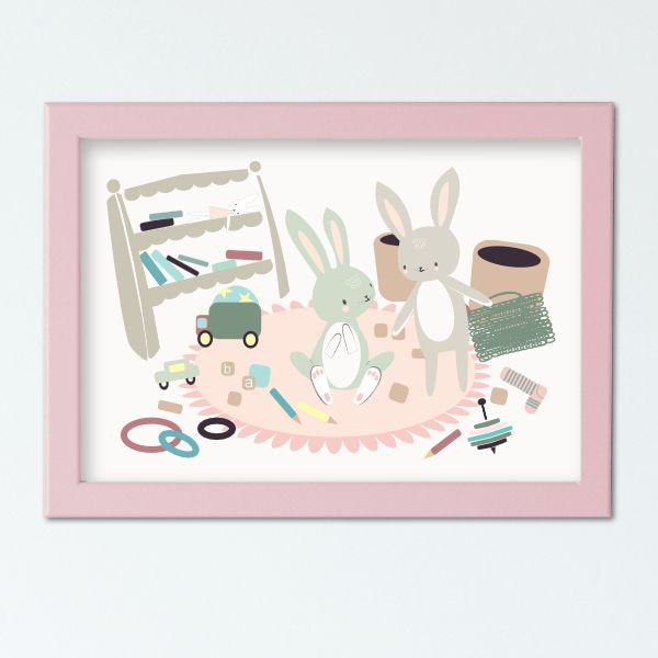 Illustierten Kindergeschichten - Mess Pink