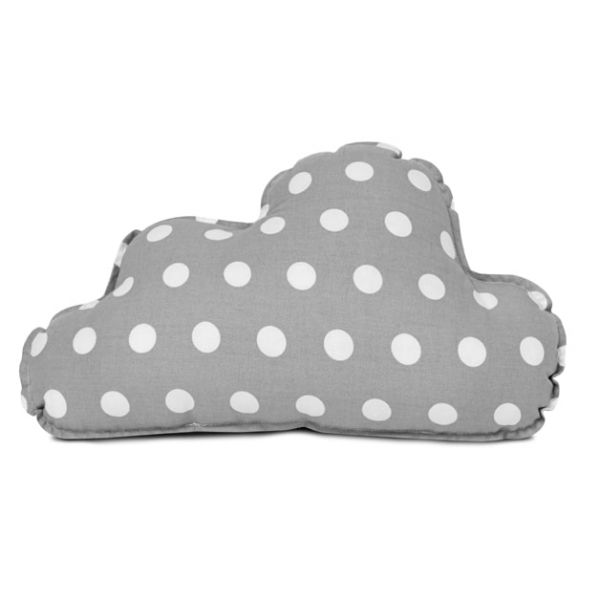 Poduszka - Cloud Grey polka-dot