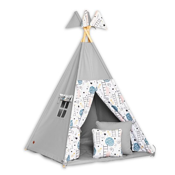Tente Tipi + Tapis + Coussins - Love to the Moon
