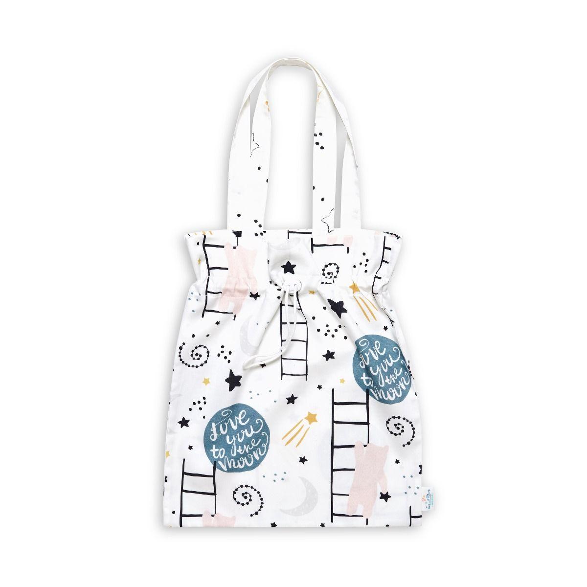 Drawstring Bag - Love to the Moon