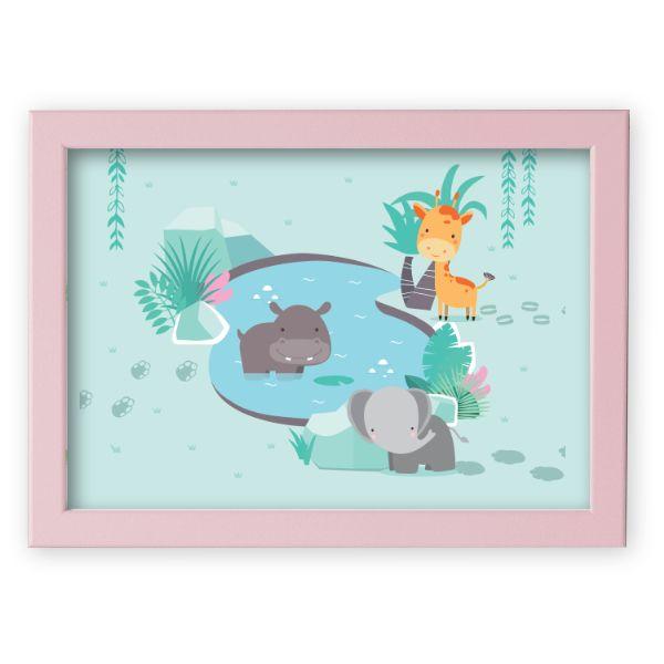 Illustierten Kindergeschichten - Watering Pink