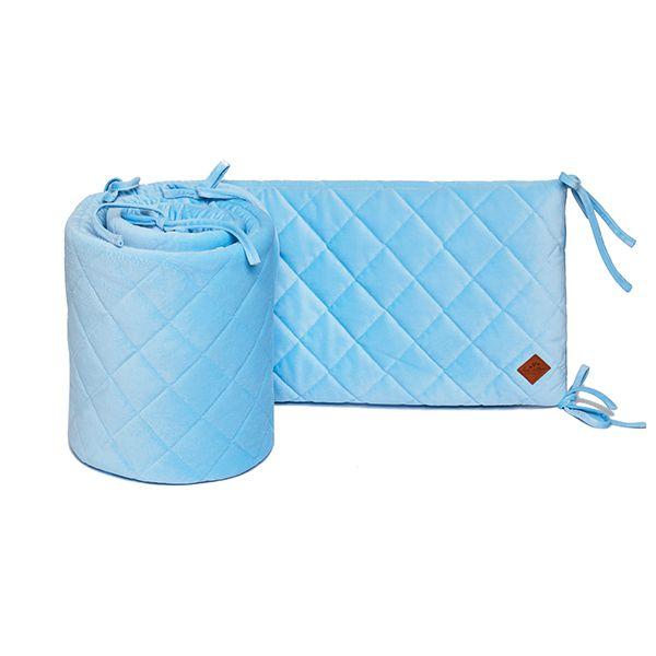 Baby Bed Bumper 70x140 - Velvet - Blue