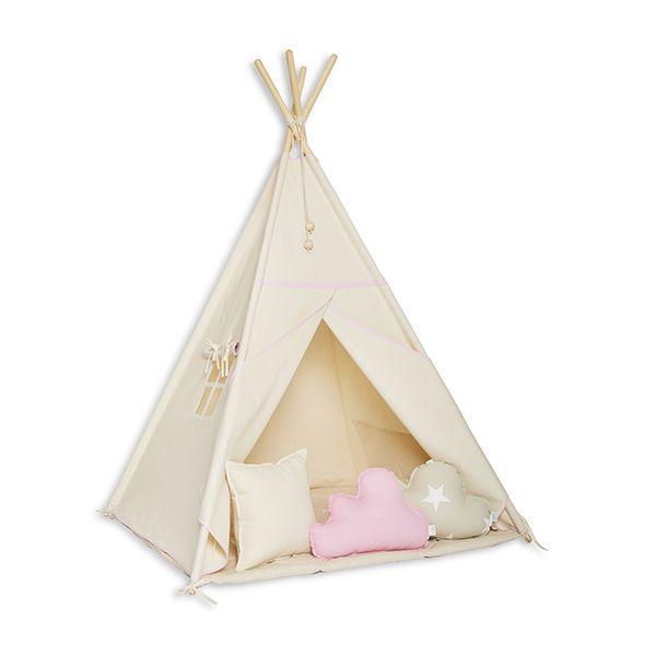 Namiot Tipi + Mata + Poduszki - Natural Pink