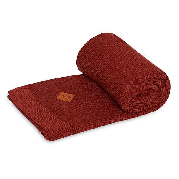Knitted Blanket - Maroon