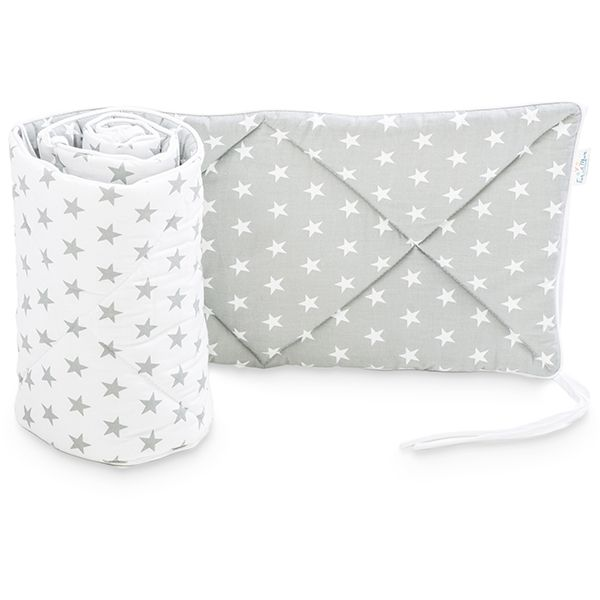 Baby Bed Bumper 70x140 - Grey Little Star