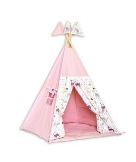 Teepee Tent + Floor Mat - Deer
