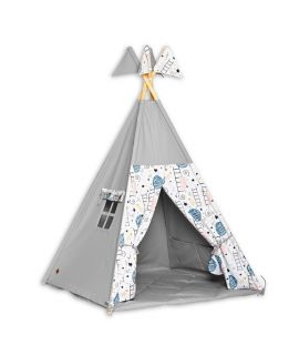Teepee Tent + Floor Mat - Love to the Moon