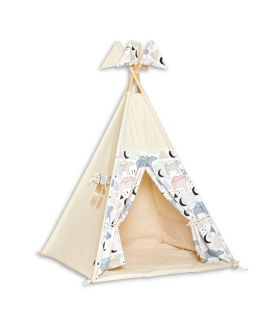 Teepee Tent + Floor Mat - Bear Family
