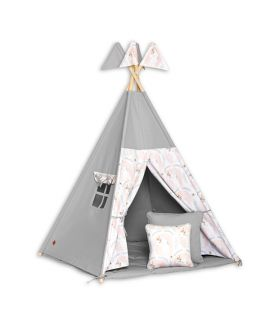 Teepee Tent + Floor Mat + Pillows - Unicorn