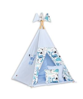 Teepee Tent + Floor Mat + Pillows - Dino