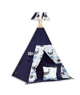 Tente Tipi + Tapis + Coussins - Sea Adventure
